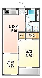 恒風園マンション[3階]の間取り