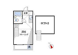 ロイヤル下井草[202号室]の間取り