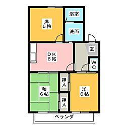 コーポ上坂 A棟[2階]の間取り