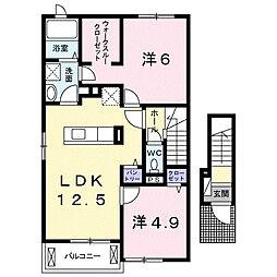 リオコリーナC[2階]の間取り