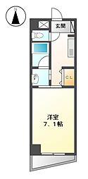 愛知県名古屋市北区楠1の賃貸マンションの間取り