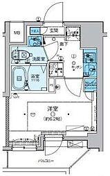 リヴシティ横濱新川町弐番館 7階1Kの間取り