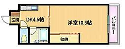 大阪府大阪市都島区高倉町1丁目の賃貸マンションの間取り