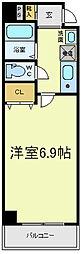 プレアデス寺田町[4階]の間取り