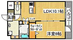 quatre Yoshida[5階]の間取り