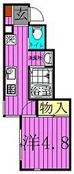東京都葛飾区青戸4丁目の賃貸アパートの間取り