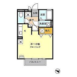 ラ・メーグ[1階]の間取り