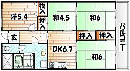 皇后崎スカイマンション[5階]の間取り