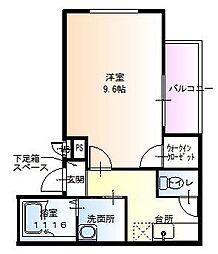 ラフィーネ聖天坂Ⅵ[3階]の間取り