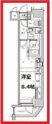 リルキシア上野 2階ワンルームの間取り