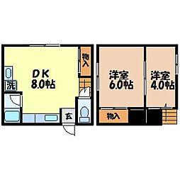 長崎県長崎市南が丘町の賃貸アパートの間取り