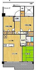 パティオタワー大宮[12階]の間取り