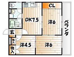 TEIAI BLD No1[3階]の間取り