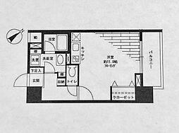 サンクレイドル横濱[708号室]の間取り