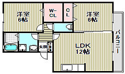 フラワーメゾンB棟[2階]の間取り