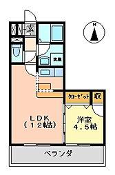 K's2002[412室号室]の間取り