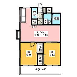 第27川崎ビル[9階]の間取り