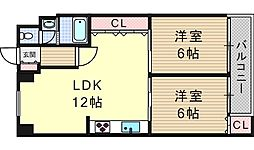メゾンネオハピネス大和[6階]の間取り
