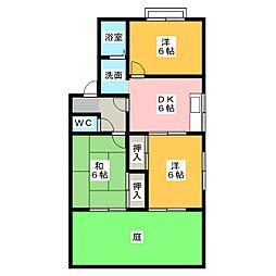 リーベT&T[1階]の間取り