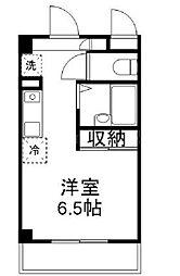 JR山陽本線 高島駅 徒歩2分の賃貸マンション 6階ワンルームの間取り