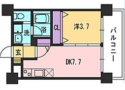 コンダクト福岡東[825号室]の間取り