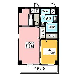 MG・名佳苑[5階]の間取り