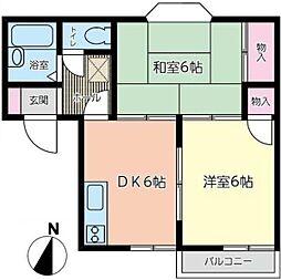 小沢アパートA[2階]の間取り