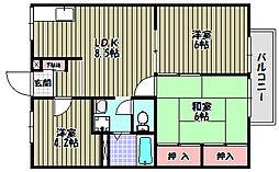 エステートピア桐[2階]の間取り