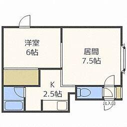 第11ベルハイム[2階]の間取り