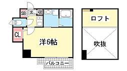 エステムコート神戸県庁前3フィエルテ[707号室]の間取り
