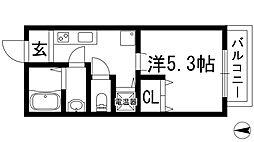 大阪府池田市豊島北2丁目の賃貸アパートの間取り