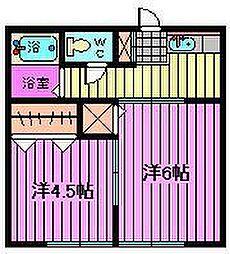 第15丸三マンション[2階]の間取り