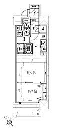 Osaka Metro堺筋線 天神橋筋六丁目駅 徒歩10分の賃貸マンション 9階1DKの間取り