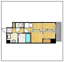 オークマンション[501号室]の間取り