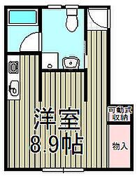 スカイコート天神橋[203号室]の間取り