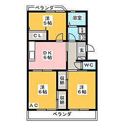 グランドゥール須田[1階]の間取り