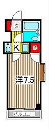 サニーサイド武蔵浦和[2階]の間取り