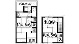 [テラスハウス] 兵庫県川西市下加茂1丁目 の賃貸【/】の間取り