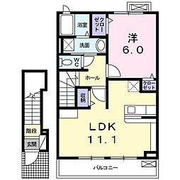 愛知県高浜市碧海町2丁目の賃貸アパートの間取り