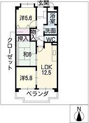 OHSADAハイツ上野公園[2階]の間取り