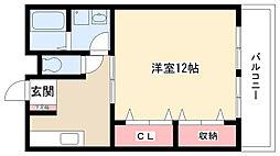 愛知県日進市赤池2丁目の賃貸アパートの間取り