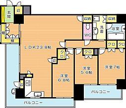 リビオ東田ヴィルコートI街区(分譲賃貸)[9階]の間取り