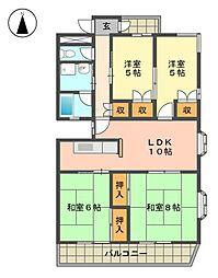 団 ヤマテ[4階]の間取り