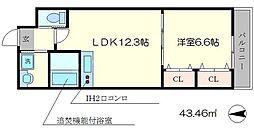 Shining壬生離宮[5階]の間取り