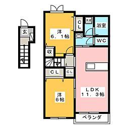 TM・グロリア[2階]の間取り