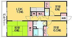 ルーセント篠栗II[2階]の間取り