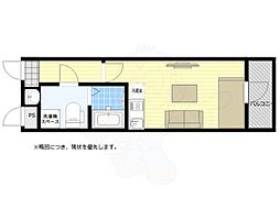 西武新宿線 武蔵関駅 徒歩4分の賃貸マンション 2階ワンルームの間取り