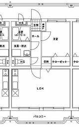 i-serene大橋[2階]の間取り