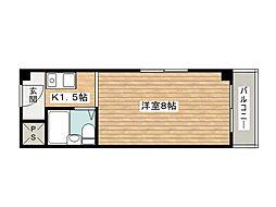 ハイツ茨木[4階]の間取り