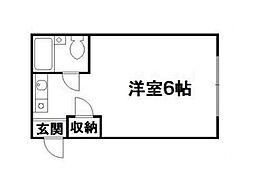 ロイヤル西陣[2階]の間取り